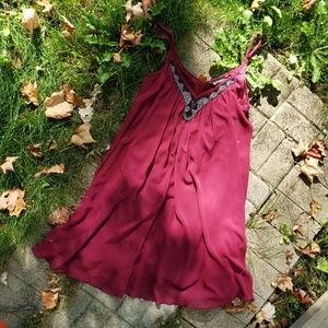 Maroon express babydoll dress